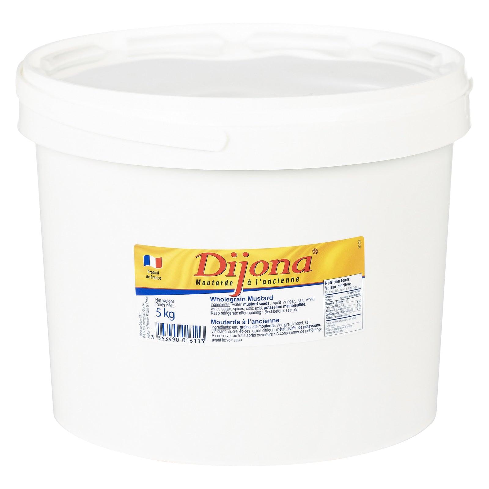 DIJONA Dijon mustard whole grain in pails