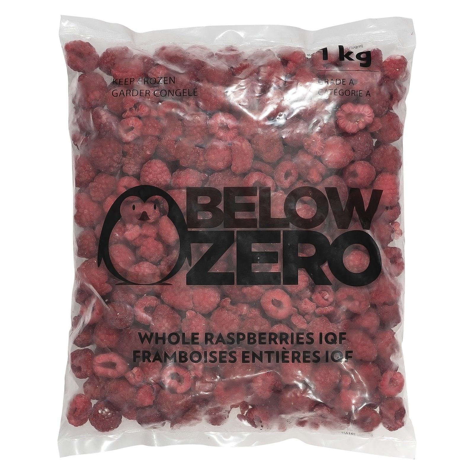 BELOW ZERO Whole raspberries