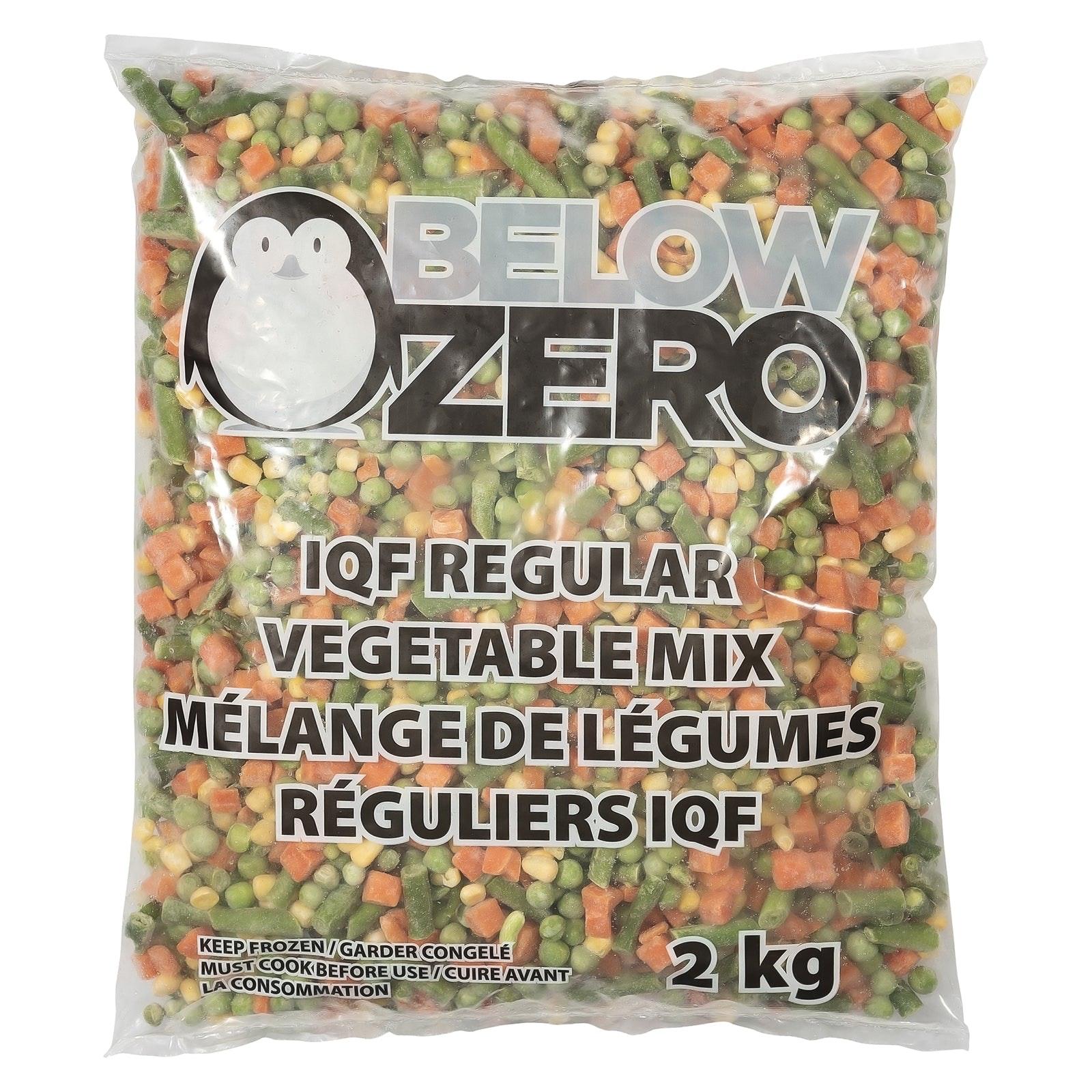 BELOW ZERO Regular mixed vegetables