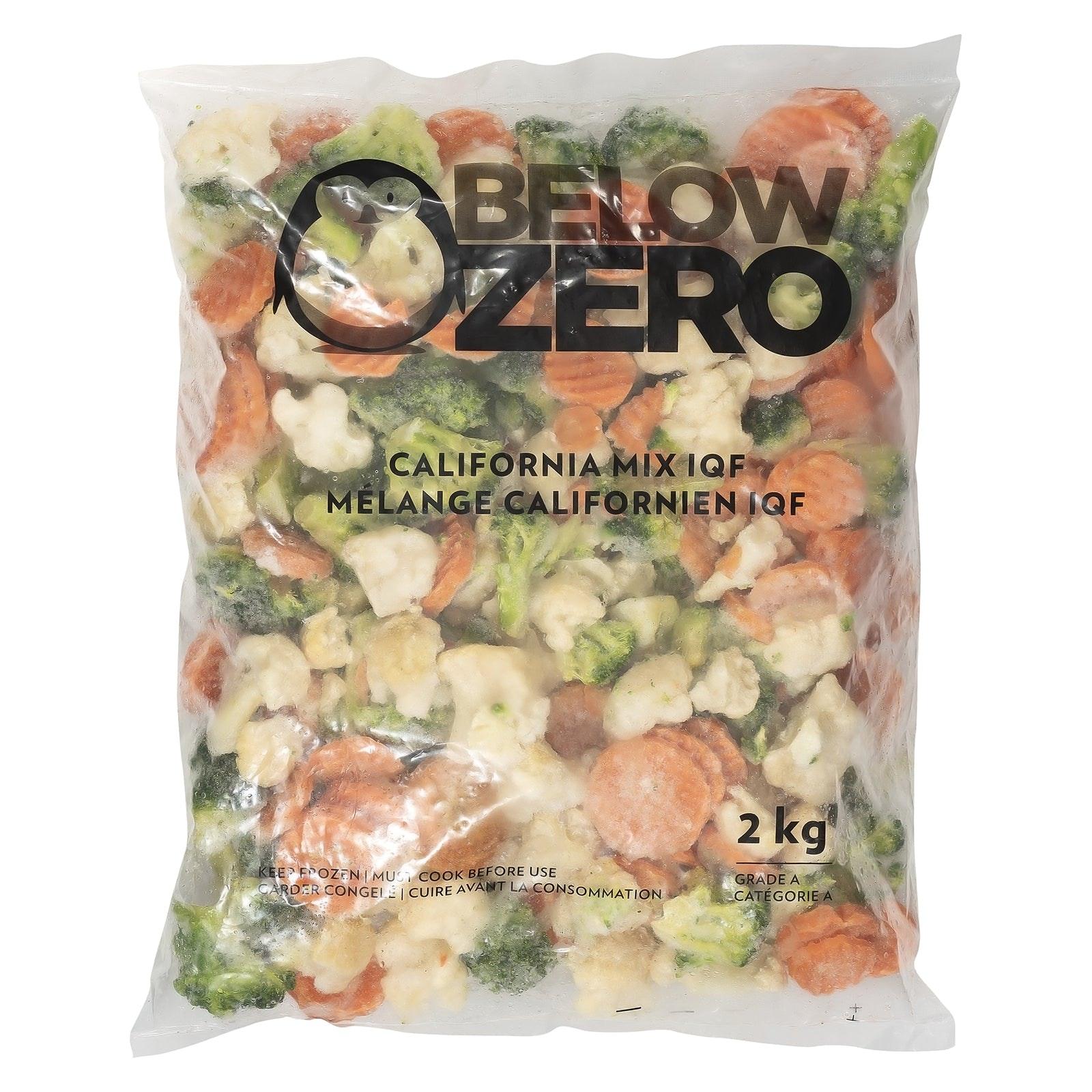BELOW ZERO California mixed vegetables
