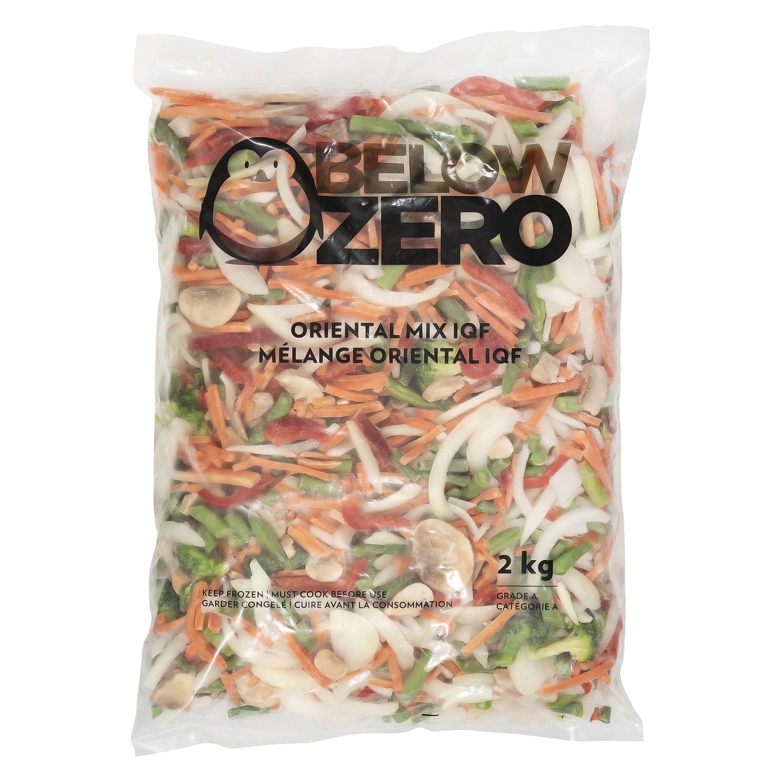 BELOW ZERO Oriental mixed vegetables