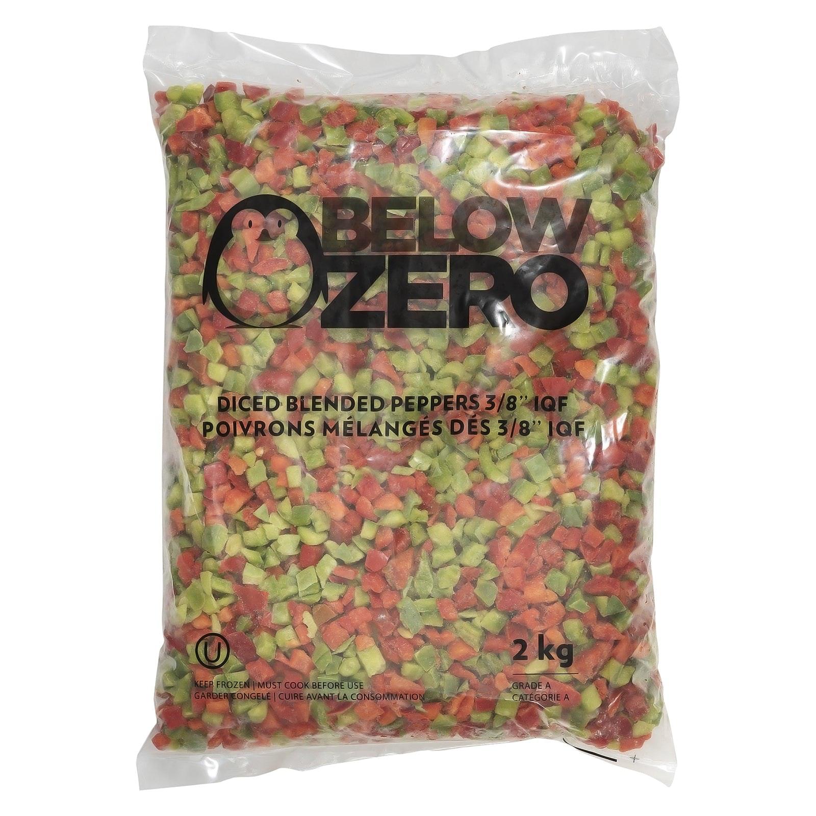 BELOW ZERO Diced mixed peppers