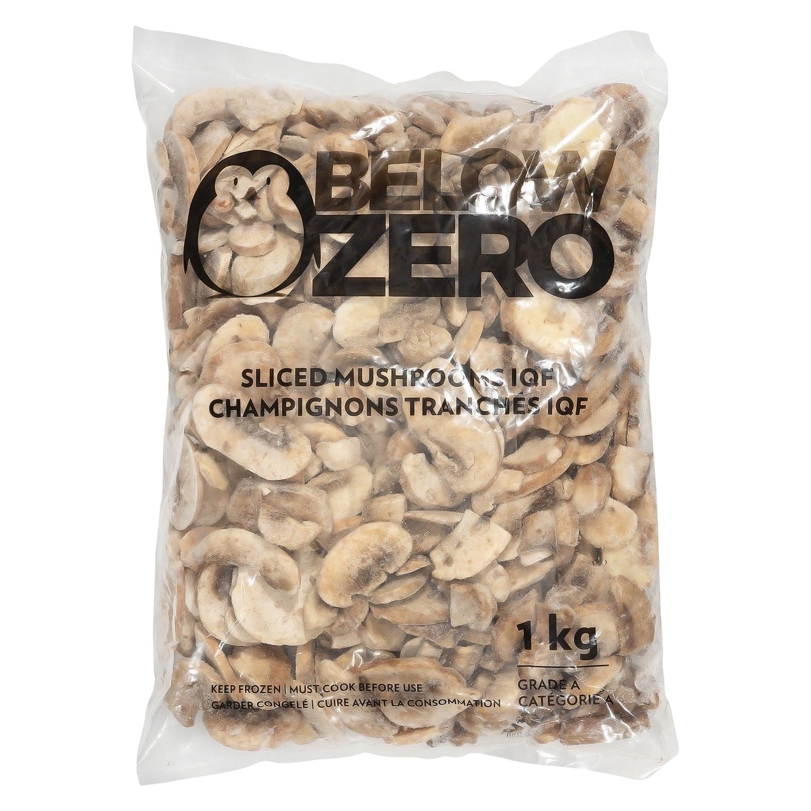 BELOW ZERO Sliced mushrooms