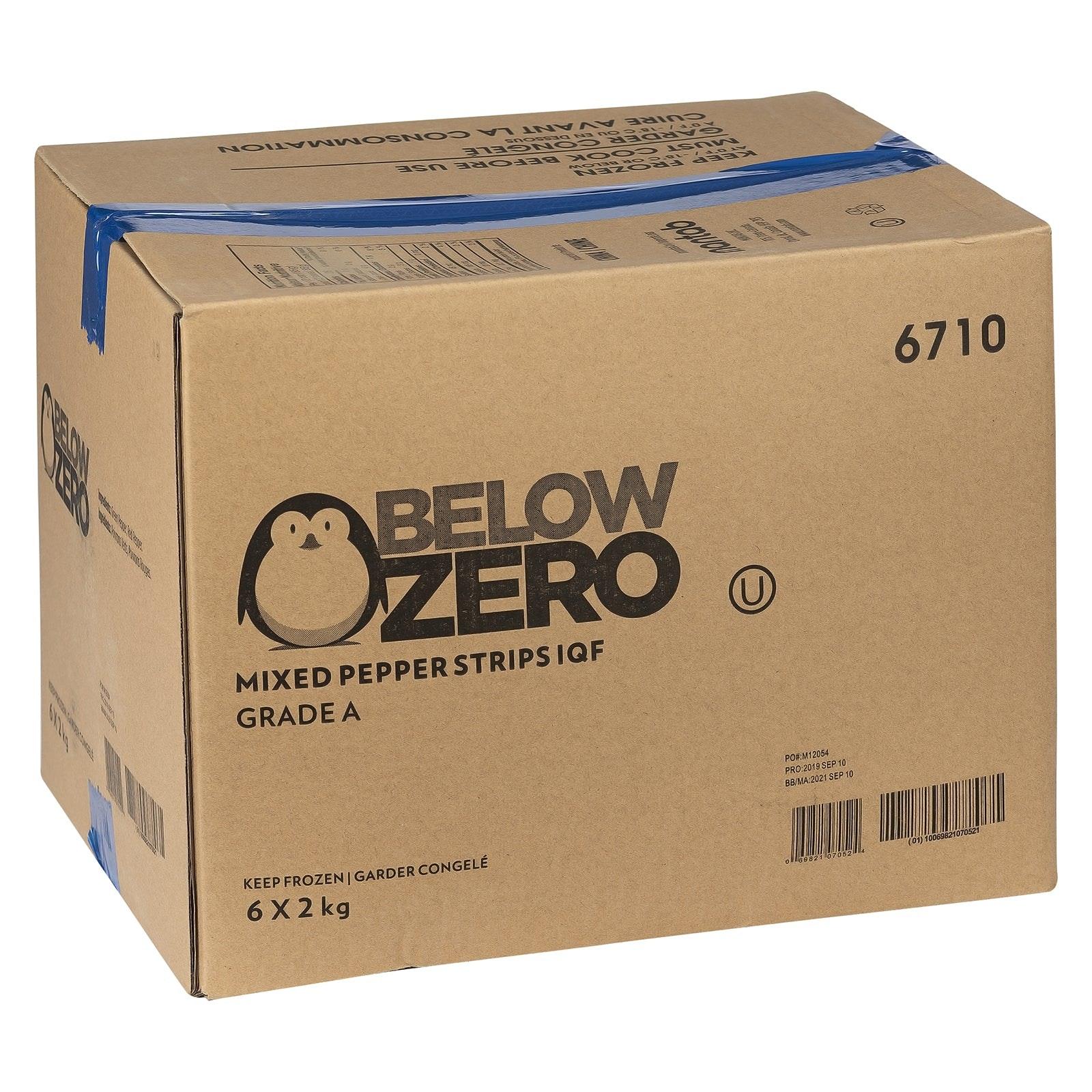 BELOW ZERO Mixed pepper strips