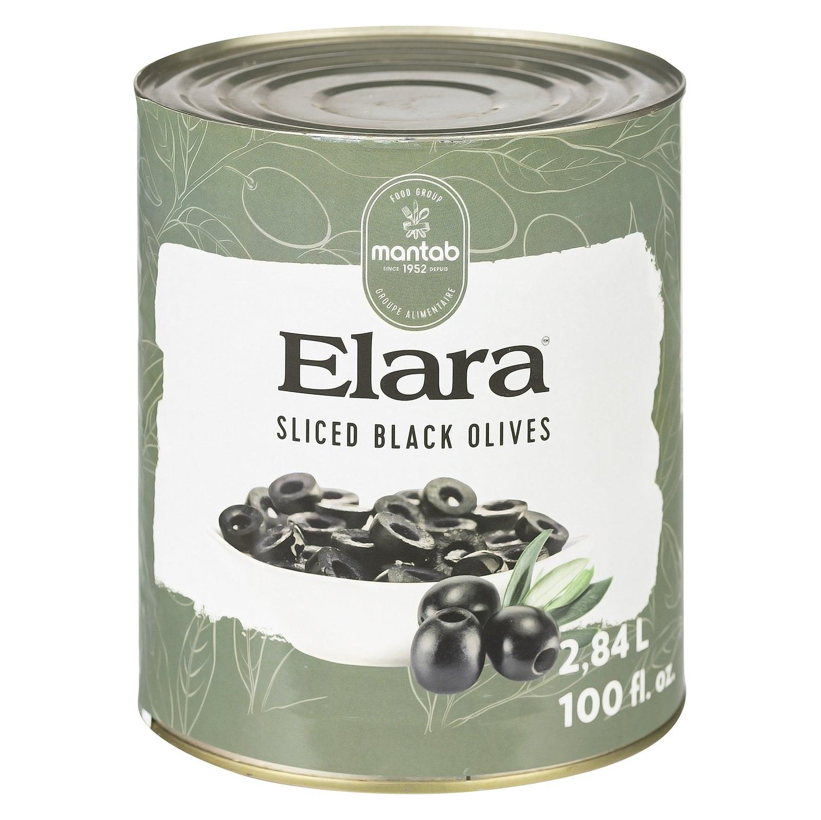 ELARA Sliced black olives