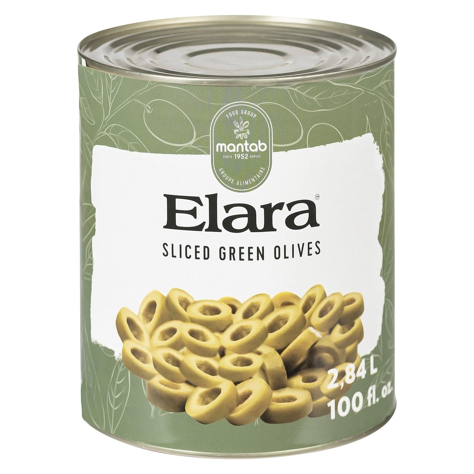 ELARA Sliced green olives