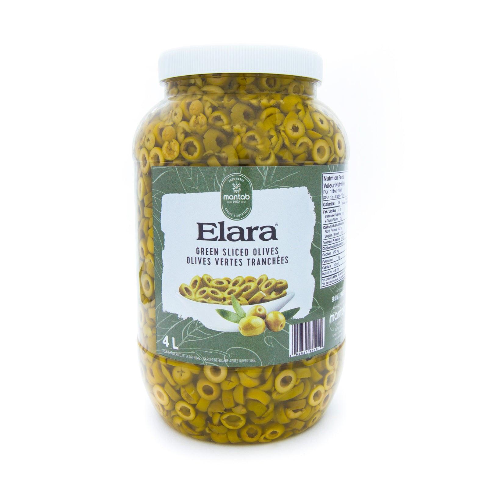 Elara Green Sliced Olives