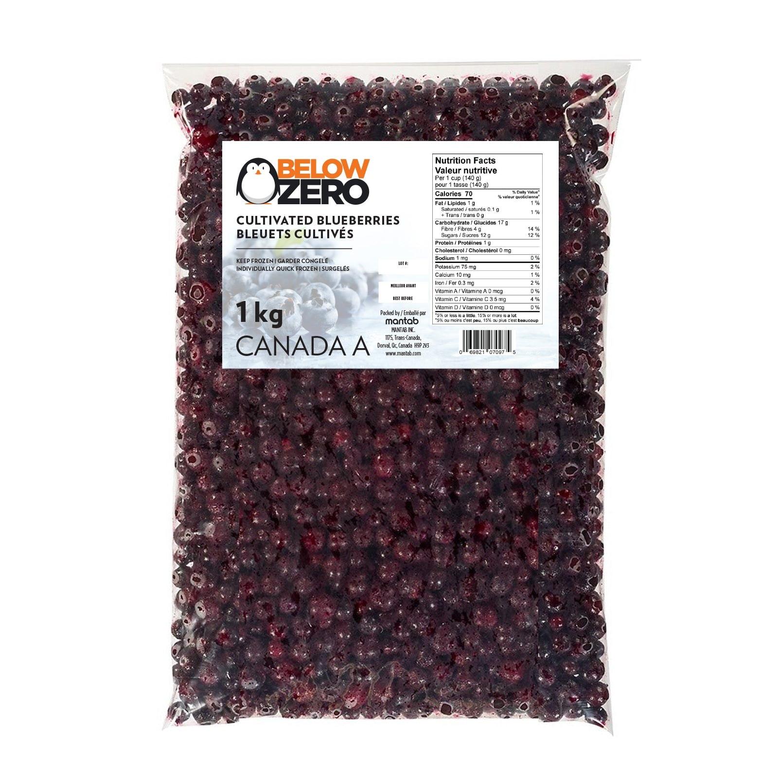 BELOW ZERO Cultivated blueberries