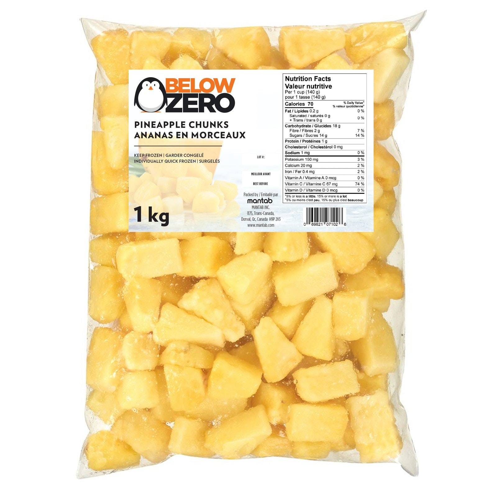 BELOW ZERO Pineapple chunks