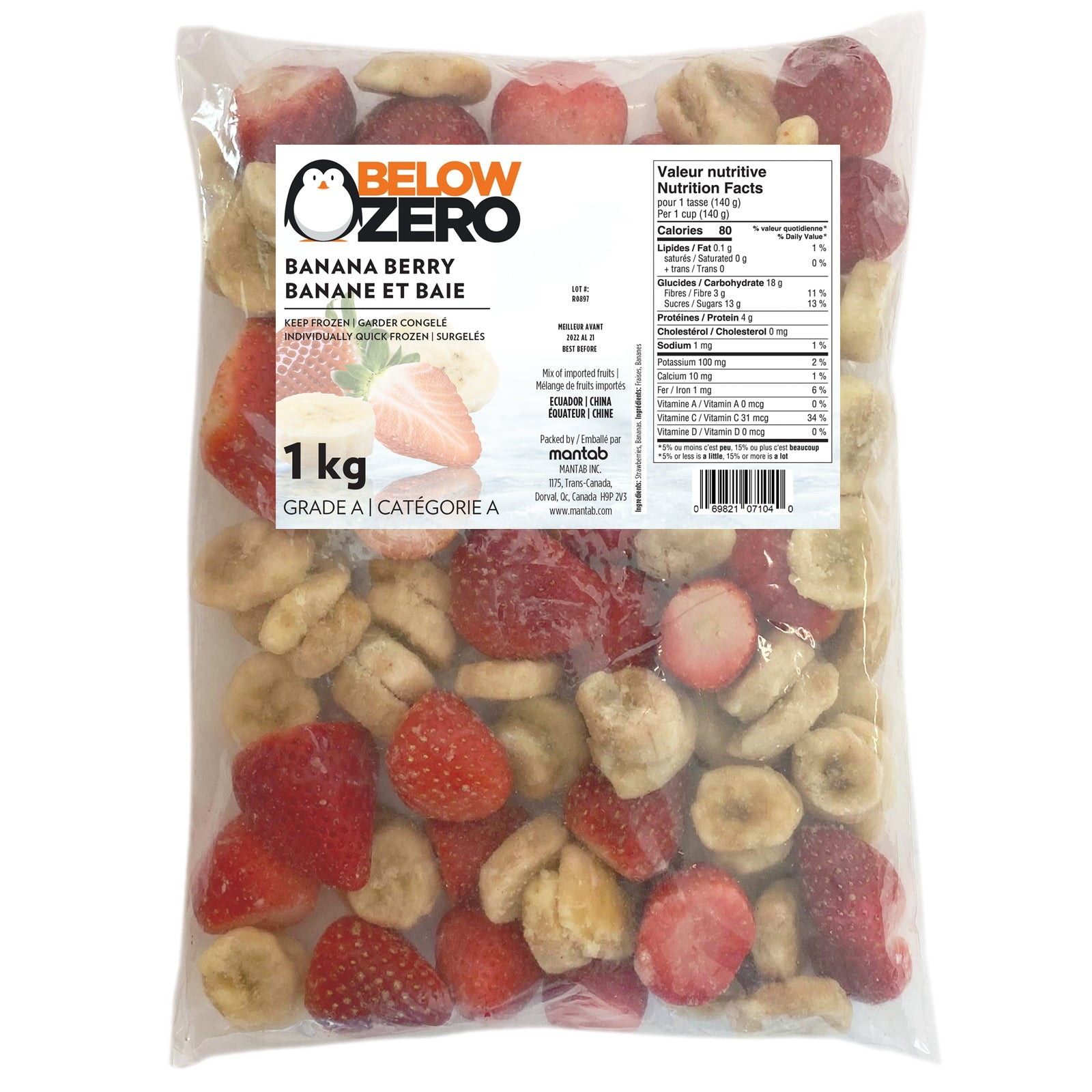 BELOW ZERO Banana berry