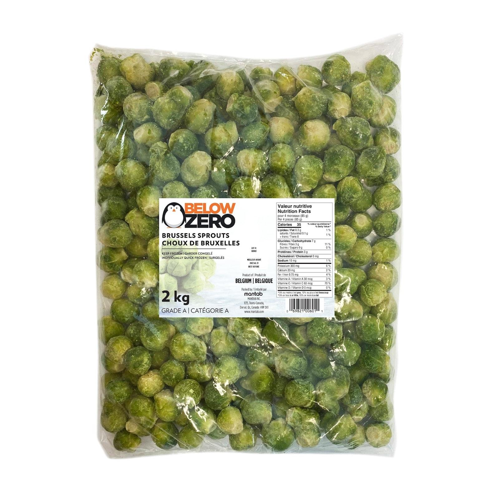 BELOW ZERO Brussels sprouts