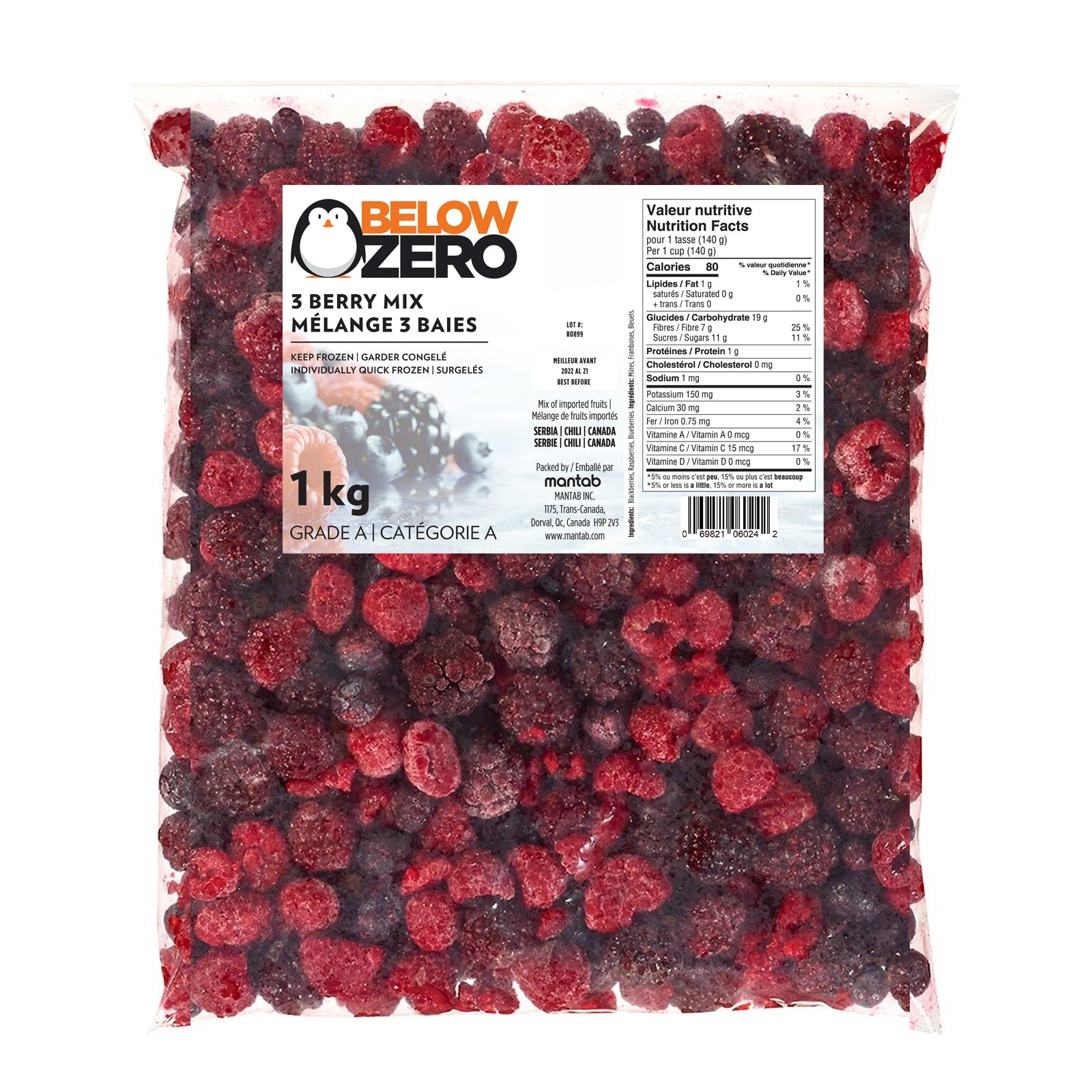BELOW ZERO 3 berry mix