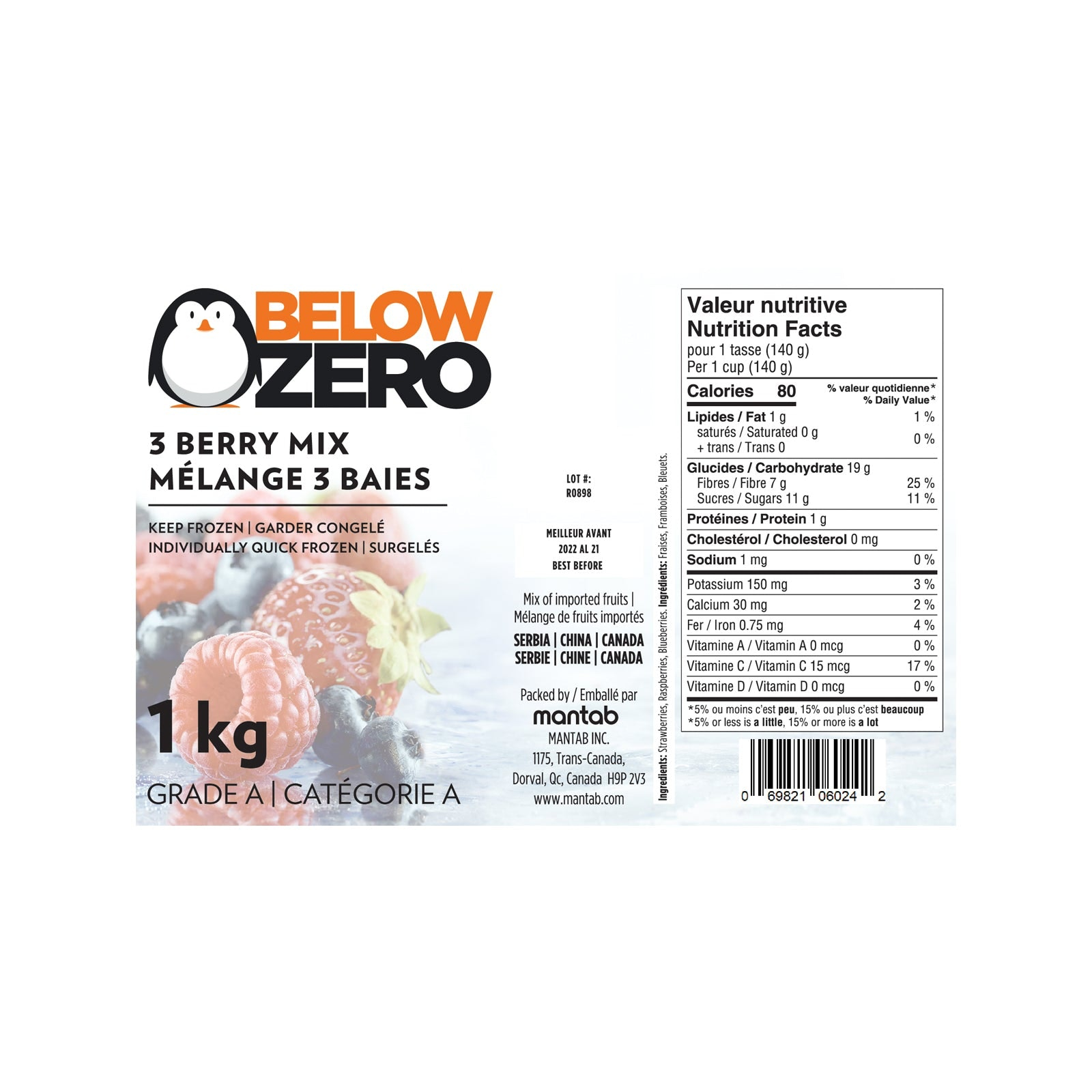 BELOW ZERO 3 berry blend