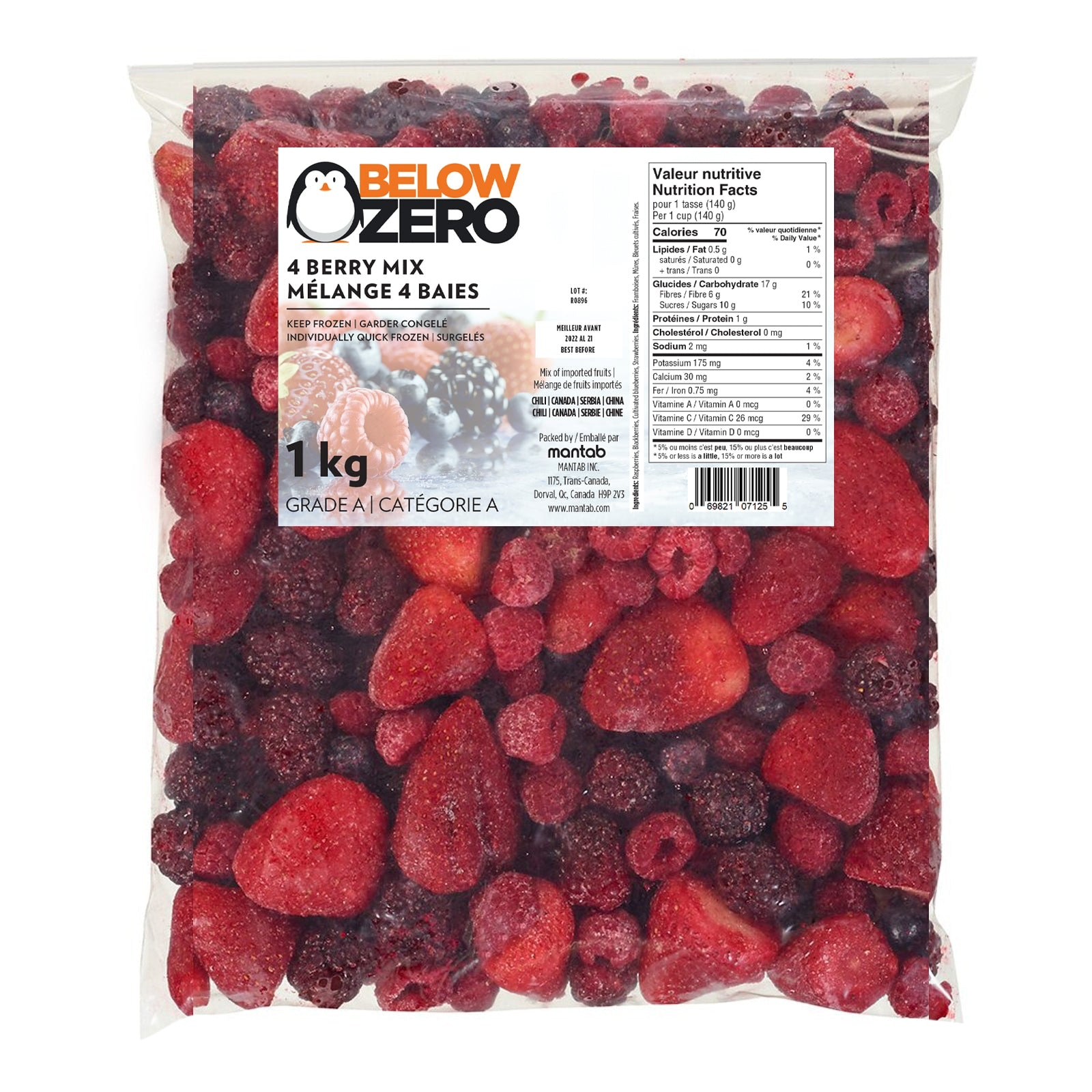 BELOW ZERO 4 berry mix