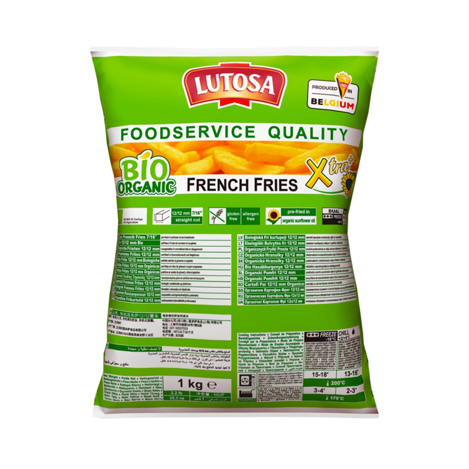 Lutosa Organic 7/16 French fries