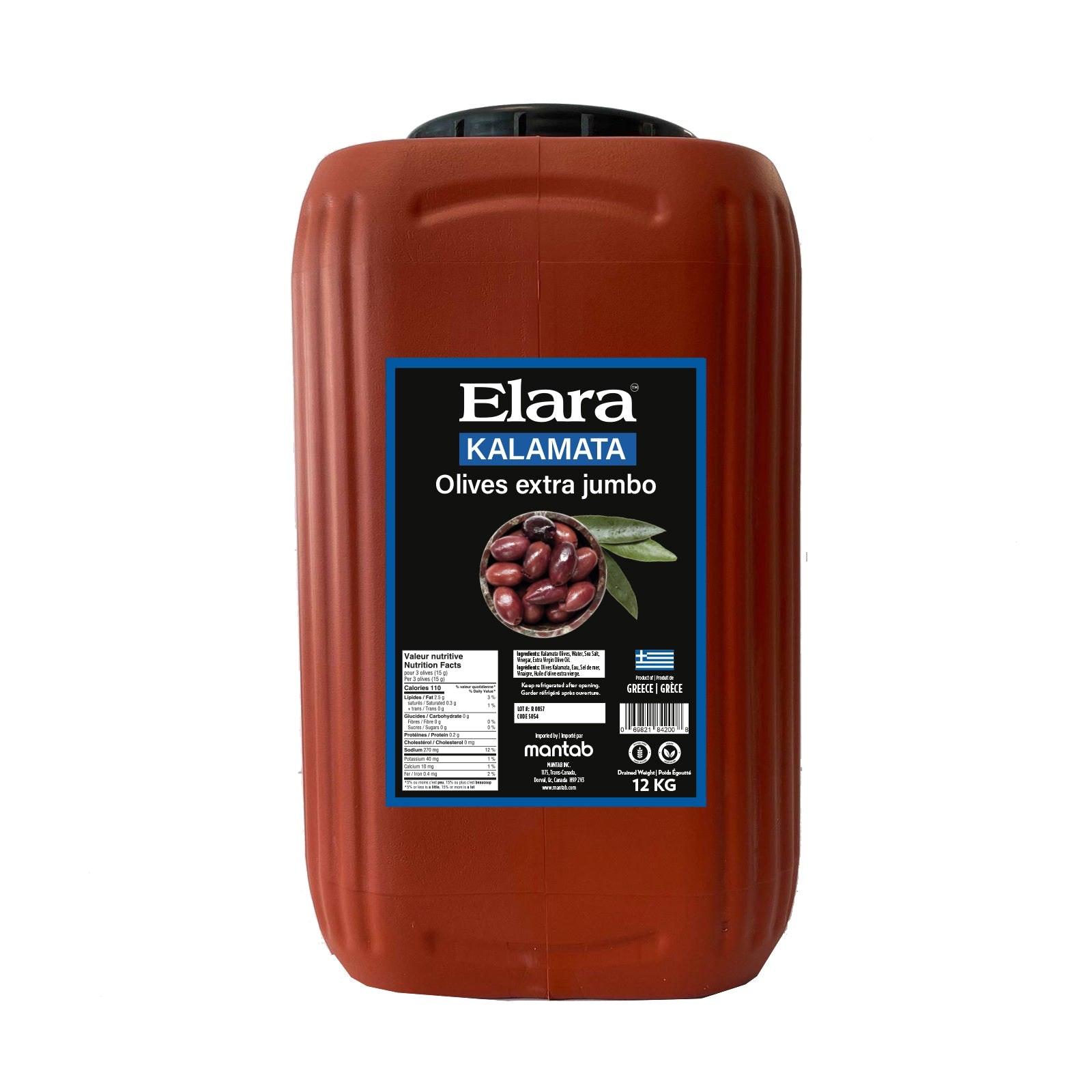 ELARA Kalamata olives Extra Jumbo