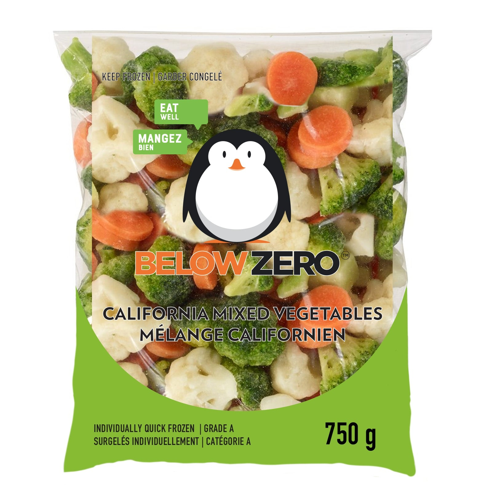 BELOW ZERO California Mixed Vegetables