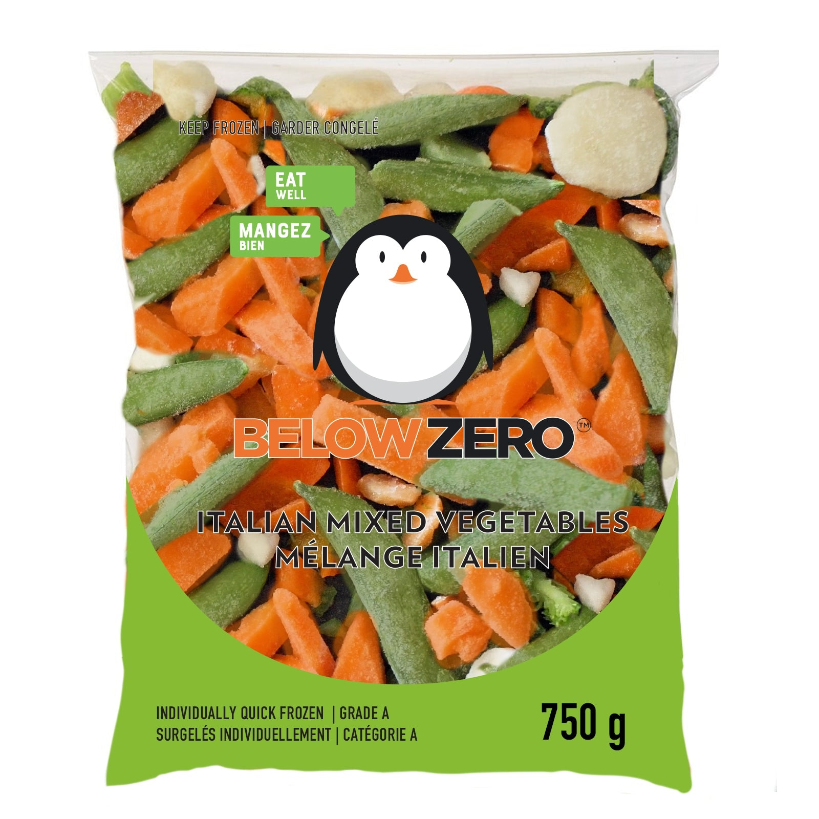 BELOW ZERO Italian Mixed Vegetables