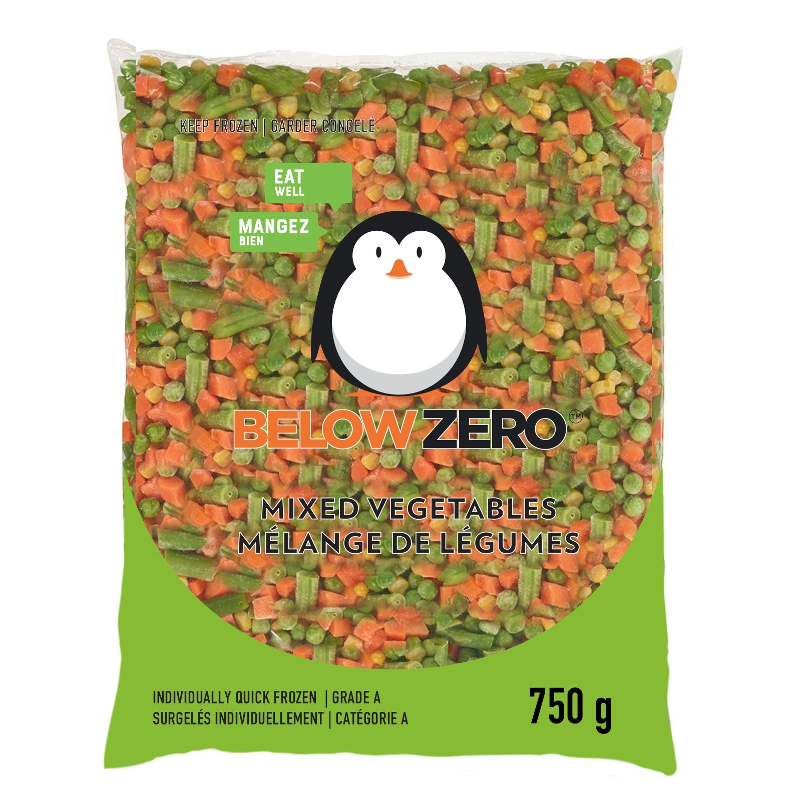 BELOW ZERO Mixed vegetables