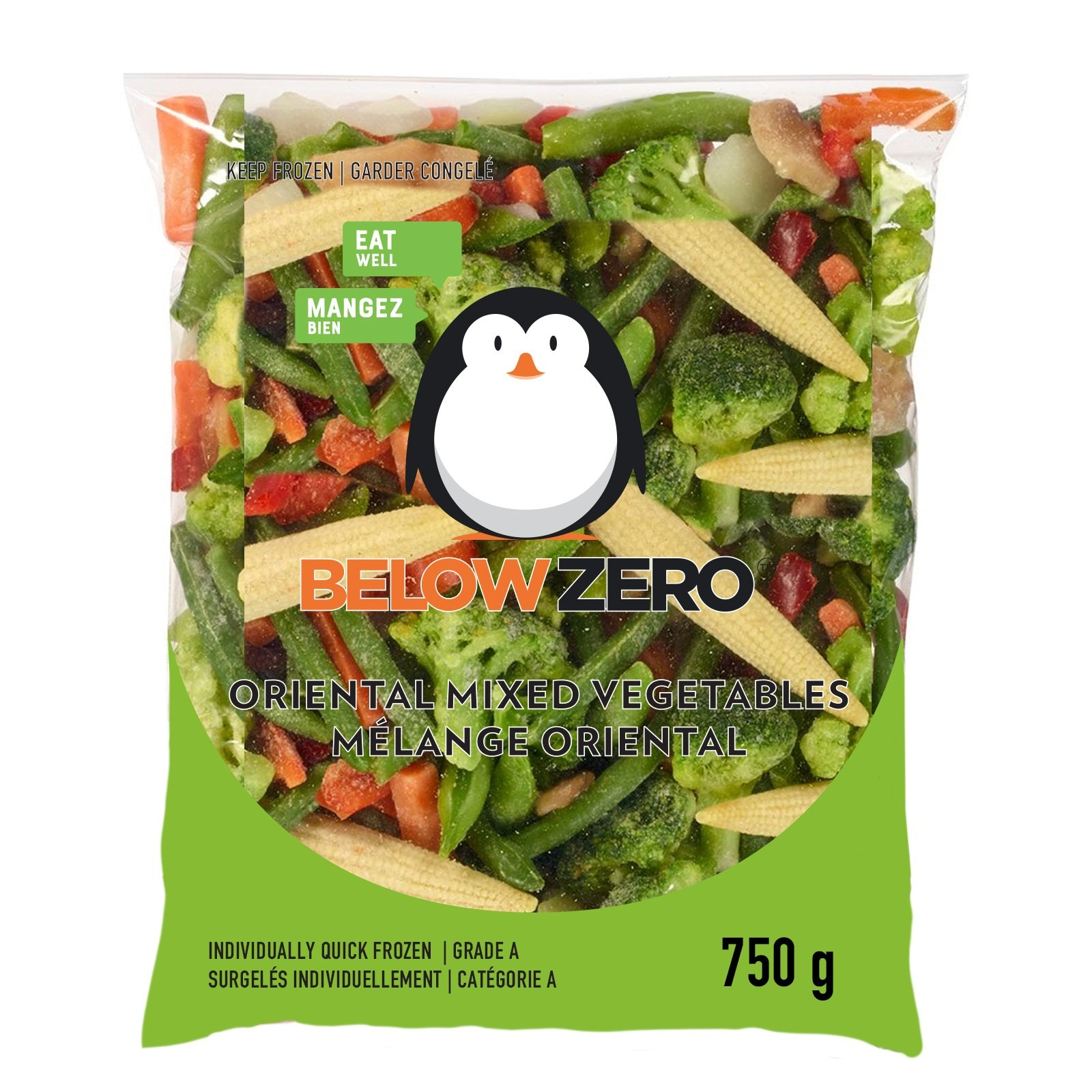 BELOW ZERO Oriental Mixed Vegetables